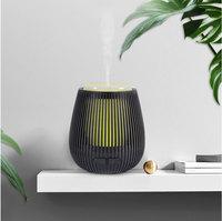USB escultura em Madeira óleo essencial aroma difusor névoa criador umidificador de ar elétrica com 7 cor luz quente para casa e escritório