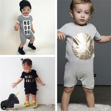 Fashion Unisex Baby Girls Boys Short Sleeve Cotton Bodysuit Toddler Infant Newborn One-piece Jumpsuit 12M-2T