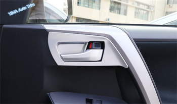 Lapetus For TOYOTA RAV4 RAV 4 2016 2017 2018 ABS Auto Styling Inner Door Pull Handle Bowl Cover Trim 8 Pcs / Set image