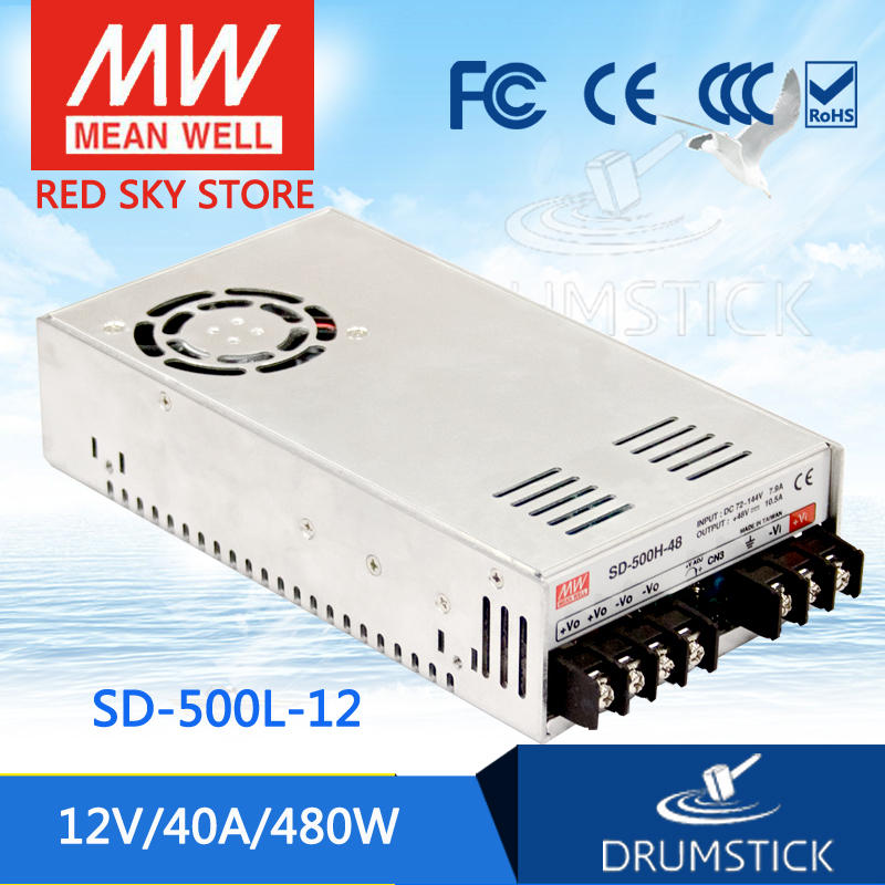 цена на Advantages MEAN WELL SD-500L-12 12V 40A meanwell SD-500 12V 480W Single Output DC-DC Converter [Real6]