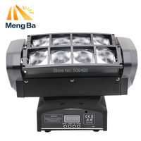 Free Shipping LED 8 3w RGBW CREE Beam Light 8 Eyes Mini Spider Light DMX512 Moving