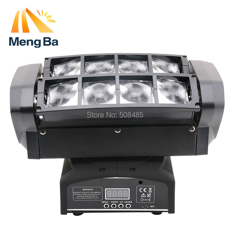 цены Free shipping LED 8*10w RGBW CREE Beam Light 8 Eyes Mini Spider Light DMX512 Moving Head Light DJ/Fest/Home / Bar /Stage /Party