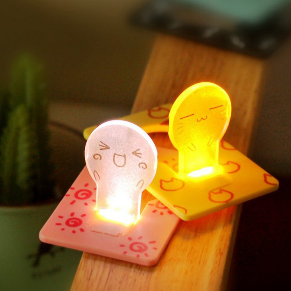 Battery Card Night Lamp Mood Light Creative Card Design Gentle Light For Emergency Light Weight and Compact Size ...