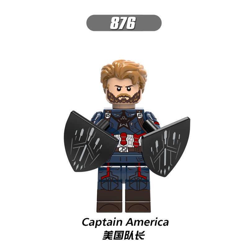 X0193 LegoINGly Formiga Vingadores Capitão Marvel Super Herói Homem de Ferro Hulk Homem Pantera Negra Vespa Blocos de Construção de Brinquedos Para Crianças conjunto