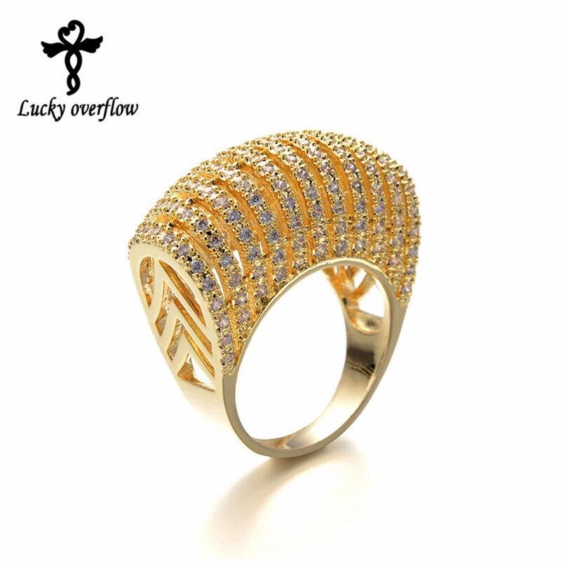 Jóias de luxo para as mulheres oco setor design aaaa zircon anéis moda bijoux elegante anel de prata de ouro novo anel de dedo largo