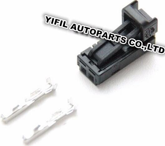 imágenes para 10 unids/lote 2 Pin/Manera Hembra Conector de Coche Lámpara de la Matrícula luces LED Plug Para Audi Volkswagen Skoda 4B0 971 832 4B0971832
