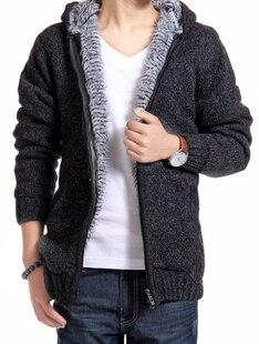 남성 의류 플러스 벨벳 두꺼운 스웨터 겉옷 남성 스웨터 카디건 트렌드