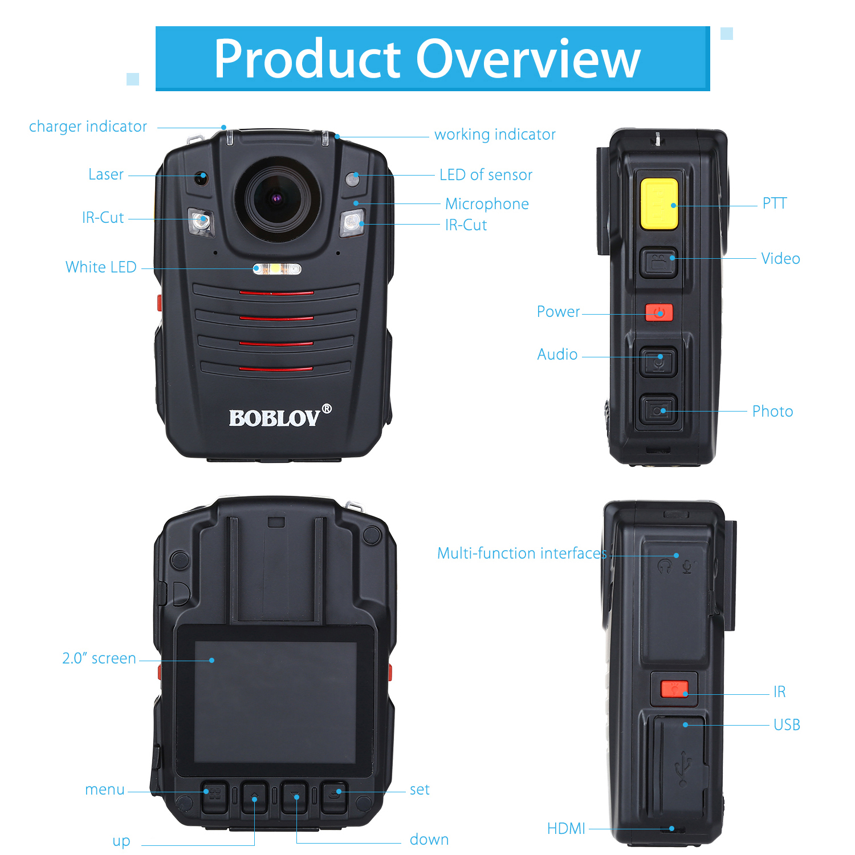 BOBLOV HD66 07 Ambarella A12 ИК ночного видения мини камера 64 Гб Видео Аудио рекордер Микро espion тела полицейская камера HD - 4