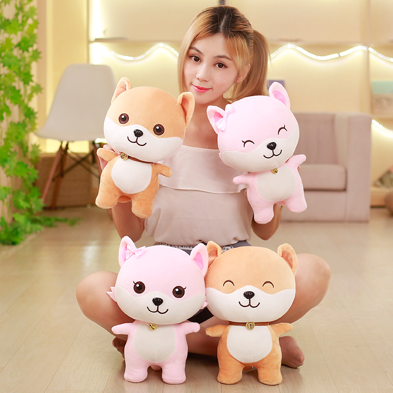 35cm Kawaii Wechat Emoji Package Cartoon Dog Plush Toy Staffed Lovely Kids Baby Corgi Dog Couples Doll Valentines Gift for Girl