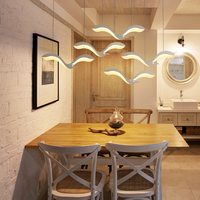 Modern creative LED living room decoration dining room chandelier coffee house aisle children room indoor combination chandelier