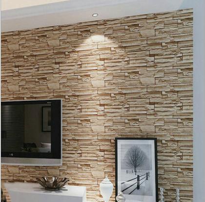 3d tijolo moderno pvc papel de parede para sala de estar for Sala de estar com papel de parede 3d