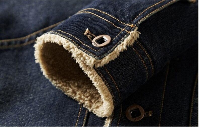 Vêtements Bleu L'hiver Lonmmy Pour Jean En Manteaux 4xl Retro Jeans blue Hommes Et Vestes Chaud Veste Blue Velours Épaississement qZZ64AHxw
