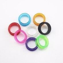 10pcs /bag  Hair Scissor Pet scissors hairdressing Scissors Color Rubber Finger Ring