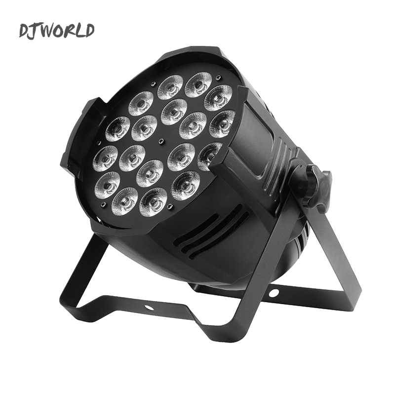 цена LED Can 18x18w Par Light Casting Aluminum Stage Par RGBWA+UV 6in1 Wash DMX 512 For Atmosphere of Disco DJ Music Party Club Danc
