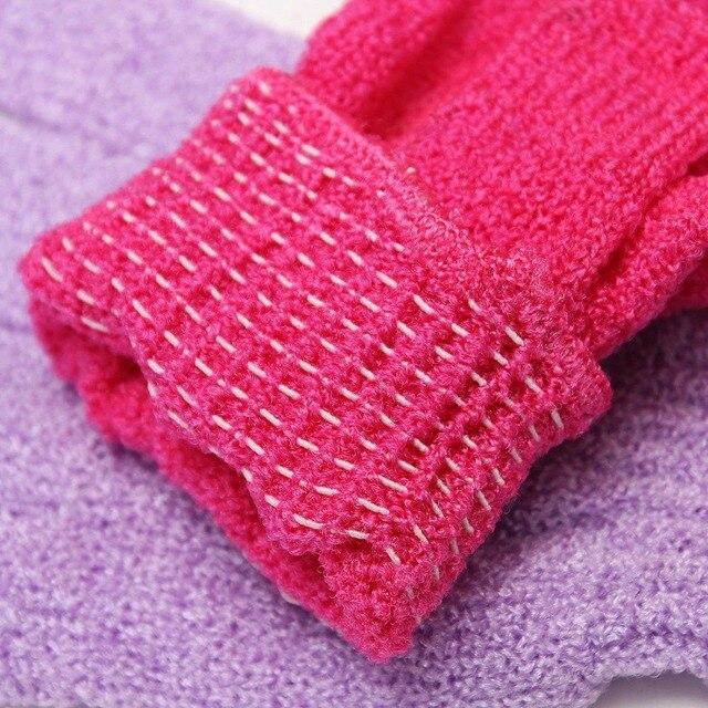 1pc Shower Bath Gloves Exfoliating Wash Skin Spa Massage Scrub Body Scrubber Glove 5