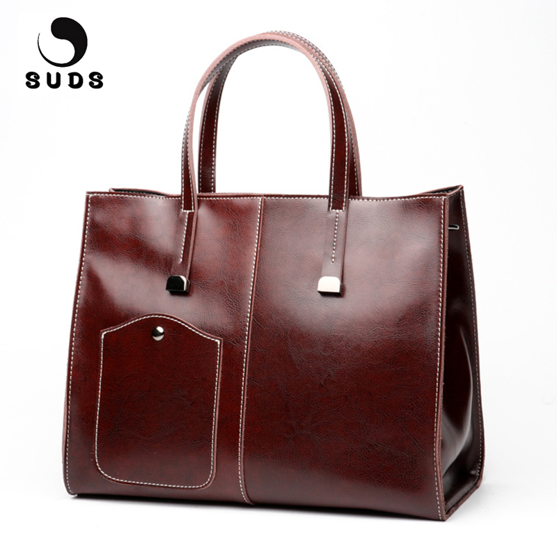 SUDS Brand Woman Bags 2017 Bag Genuine Leather Shoulder Bags Designer Handbags High Quality Female Cow Leather Crossbody Bags 2018 fashion cow leather women shoulder bags tassel lady handbags genuine leather woman crossbody bag