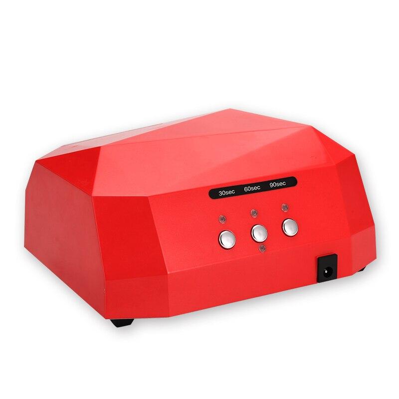 36W Nail Dryer Diamond Shaped LED UV Lamp Nail Lamp LED & CCFL Curing for UV Gel Nail Polish Nail Art Manicure Tools shanghai kuaiqin kq 5 multifunctional shoes dryer w deodorization sterilization drying warmth