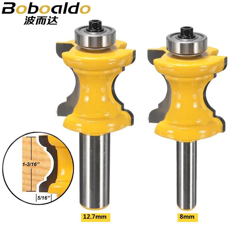 8mm 12,7mm Shank Bullnose Bead columna cara moldeado Router Bit para carpintería herramientas radio cóncavo cortador