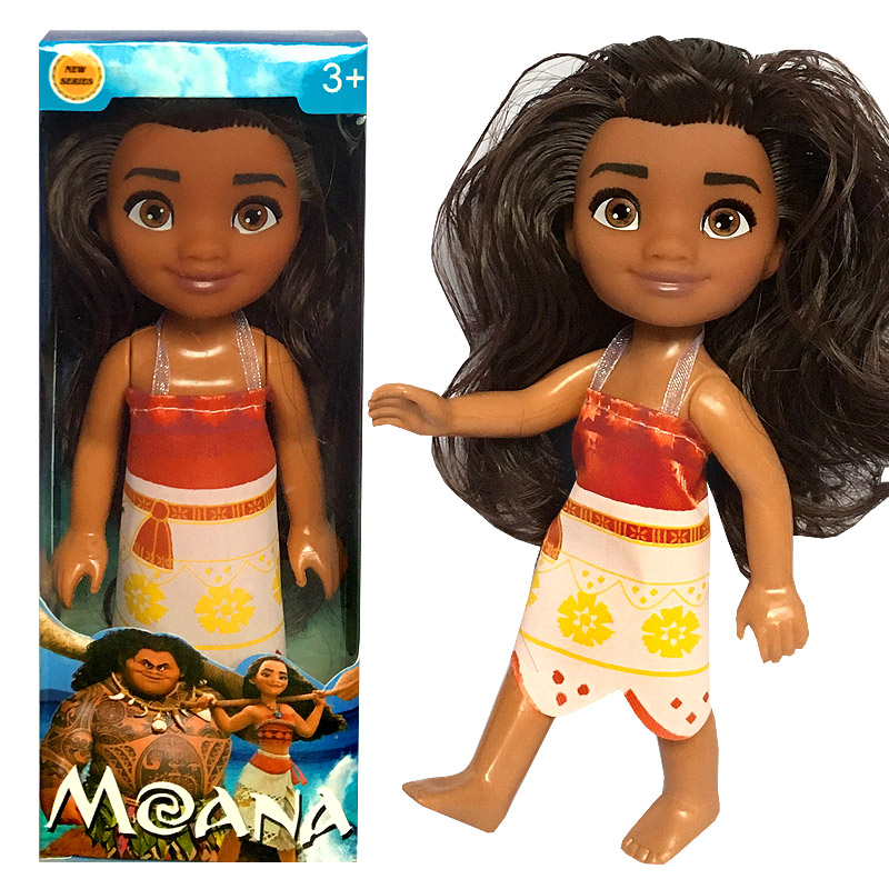 Free Shipping Vaiana Boneca Moana Princess Doll Action Figure Toys Movie Anime Toothless Dragon Toys Children Christmas Gifts