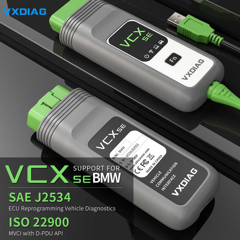 Vxdiag vcx se para bmw obd2 scanner de diagnóstico do carro icom a2 a3 próxima programação ferramenta de diagnóstico para bmw ista mini codificação inpa