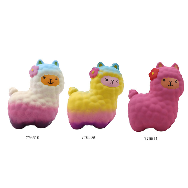 Cute Rebound Toys Rainbow Alpaca Bread Soft Slow Rising Pendant Phone Straps Stretchy Squeeze Scented Cake Xmas Gifts Novelty & Gag Toys