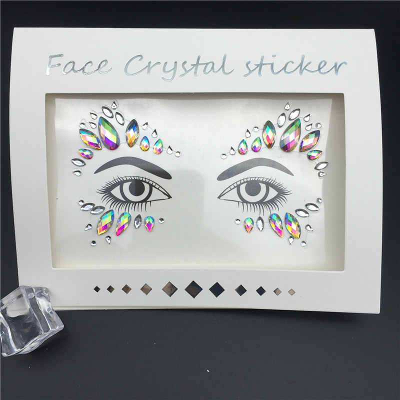 ... 3D Crystal Glitter Jewels Tattoo Sticker Women Fashion Face Body Gems  Gypsy Festival Adornment Party Makeup ... 4f31e83345fd