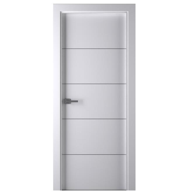 Nouvelle conception solide porte en bois laqué émail moderne porte intérieure dalle