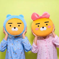 35cm Kakao Friends Plush Pillow Stuffed Kawaii Cartoon Love Doll Ryan Cute Cocoa Kids Children