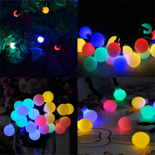 Solar Globe LED String Lights Multicolor 50 LEDs Ball Party Fairy Garden Holiday Wedding Decoration Outdoor Lighting