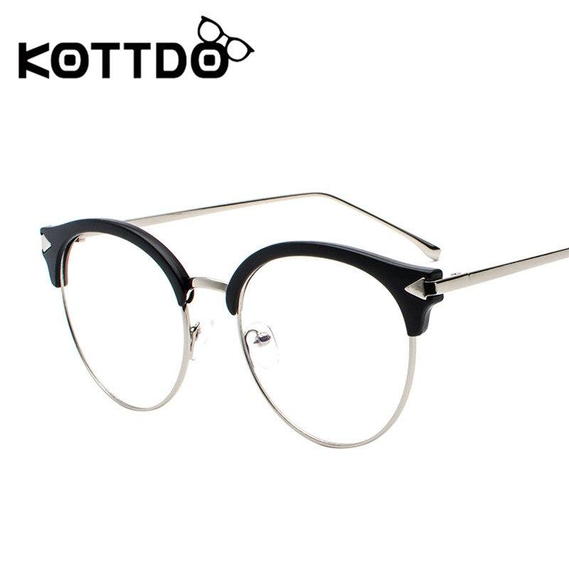 4b699c888f KOTTDO 2018 New Round Eyewear Vintage Retro Reading Glasses Frame Cheap  Prescription Metal Flat Mirror Female