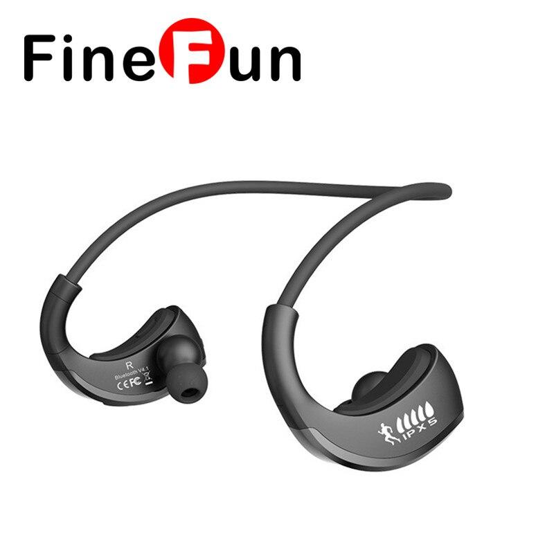 ФОТО FineFun G06 IPX5 Waterproof Headphones Wireless Bluetooth V4.1 Stereo Ear style Binaural Headset with microphone For Smart Phone
