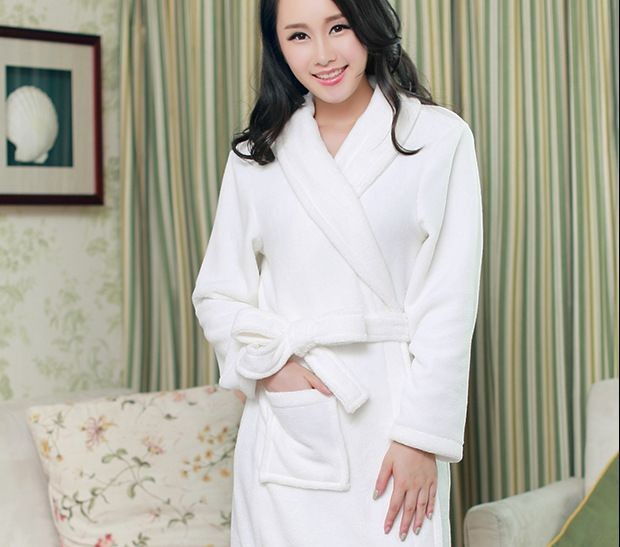 Women\'s Knee-Length Polyester Sleep Lounge Robes RBS-D RB20 3