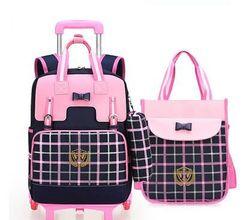 Schule Roll Rucksäcke Schule Trolley-rucksack taschen für Mädchen kinder rädern Tasche für Schule Kinder Trolley Rucksack Auf rädern