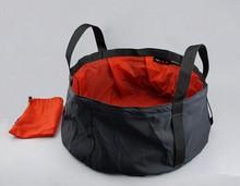 SEWS Portable Outdoor Foldable Folding Camping Washbasin Basin Bucket Bowl Sink Washing Bag Hiking Water Pot Light Weight New