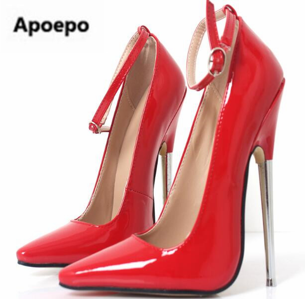 Apoepo newest women pumps 18 cm stiletto metal heels ladies shoes sliver wedding bride shoes high heels pumps plus size 45 red siketu 2017 free shipping spring and autumn women shoes fashion sex high heels shoes red wedding shoes pumps g107