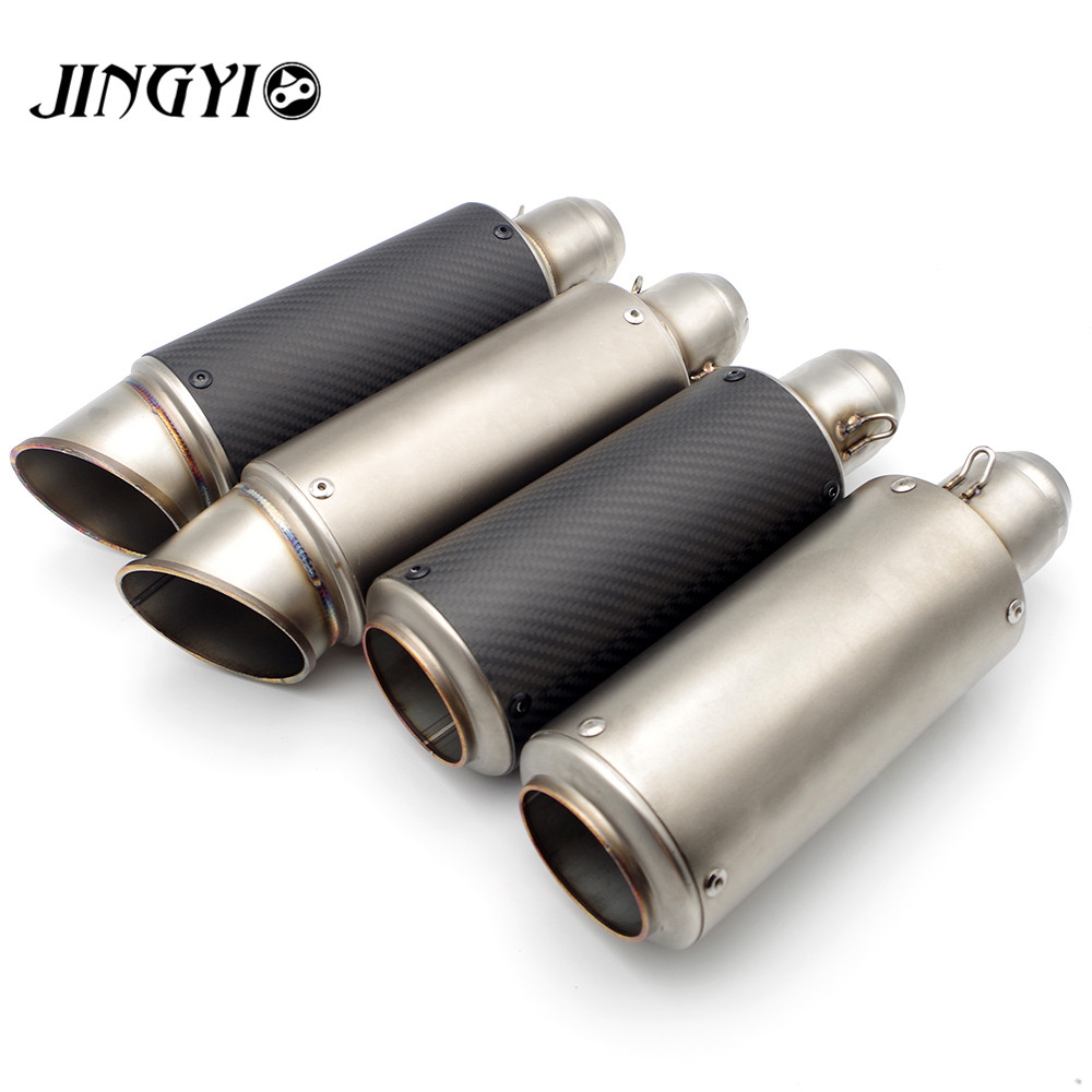 51/61mm Universal Stainless Steel Motorcycle Exhaust Pipe Muffler loud silencieux escape moto FOR HODNA CB500 CB600 CB750 CB900