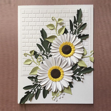 DUOFEN METAL CUTTING DIES 020095 daisy blossom sets cutout lace hollow embossing stencil DIY Scrapbook Paper Album 2018 new