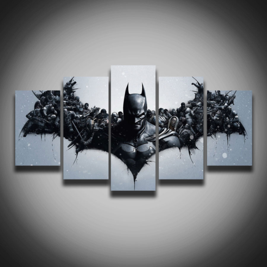Buy Spray Painting Printed Movie Picture Cool Batman Painting On Canvas 5