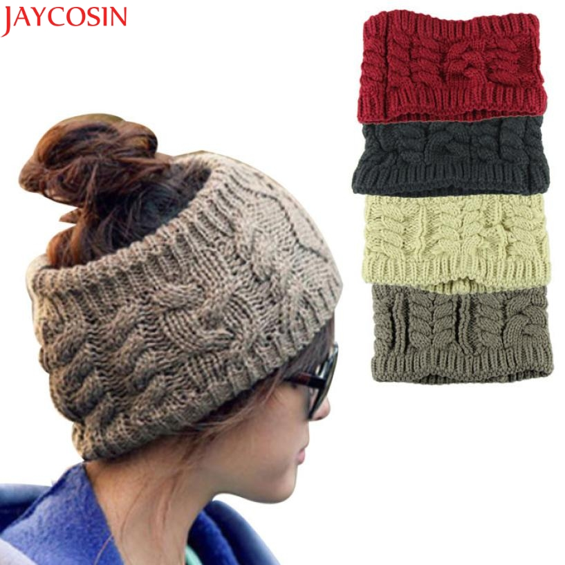 Jaycosin Fashion Casual Girl Women Headwear Head Wraps Crochet Twist Flower Elastic Hair ...