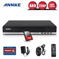 ANNKE 4CH 720P 8CH 1080P 3 in 1 DVR video recorder 1TB HDD for AHD Analog camera IP camera P2P cctv system DVR H.264 VGA HDMI