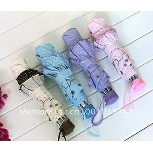 Free Shipping Retail High Quality Sun Umbrella, UV Umbrella,  3 Folding Umbrella, Easy to Carry,Hello Kitty  Style 1 !