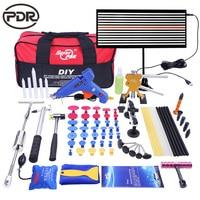 PDR tools kit Paintless Car Body dent Repair Tools set tool to Remove Dents Auto Repair Tool Dent Puller Glue Gun slide Hammer