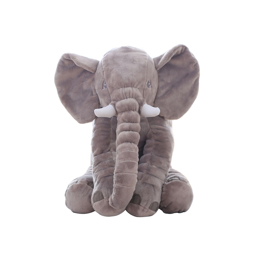 1pc 60cm Plush Elephant Soft Pillows Baby Sleeping Pillow Comforter Stuffed Elephant Plush Animal Cushion Best