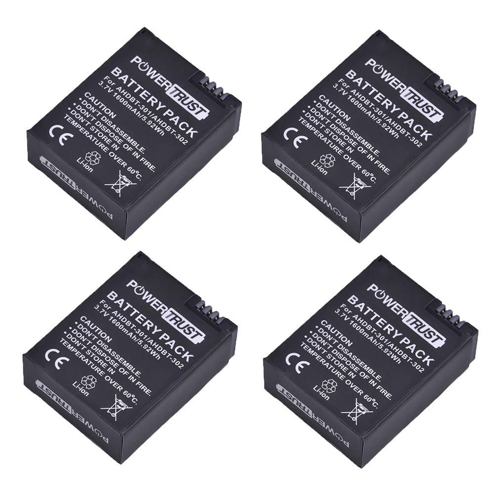 4Pcs 1600mAh AHDBT-301 Li-ion Battery AHDBT 301 AHDBT301 for GoPro HD HERO3/3+ and GoPro AHDBT-201/AHDBT-301/AHDBT-3024Pcs 1600mAh AHDBT-301 Li-ion Battery AHDBT 301 AHDBT301 for GoPro HD HERO3/3+ and GoPro AHDBT-201/AHDBT-301/AHDBT-302