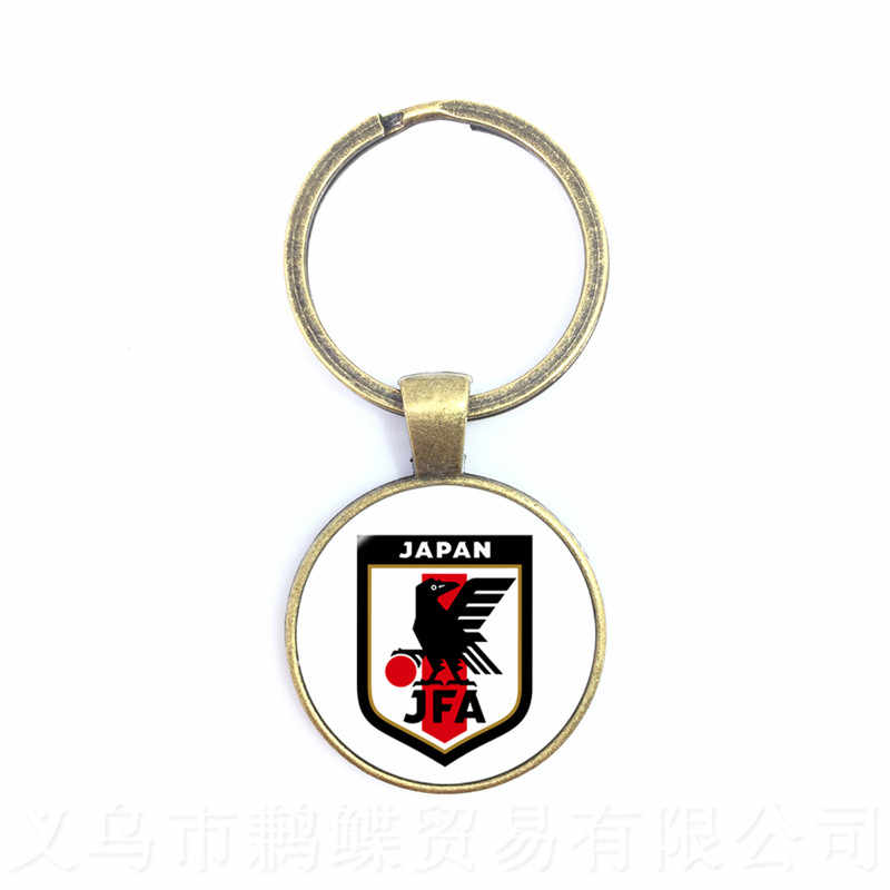 Japão, Portugal, Nigéria, México, Marrocos Nacional LOGOTIPO Da Equipe de Futebol de Futebol de Vidro Cúpula Pingente Chaveiro Presente Da Lembrança