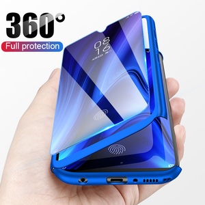 360 Full Protective Phone Case for Huawei Y5 Y6 Y7 Y9 Prime 2019 P Smart Pluz Z P30 P20 Lite Pro Nova 2i 3 3i 4 Cover with Glass(China)