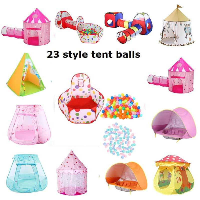 Portable Kids Tenda Set Mainan Anak Bayi Beach Tenda Portable Membangun Outdoor Prince Pricess Lipat Bayi Bermain Anak Castle