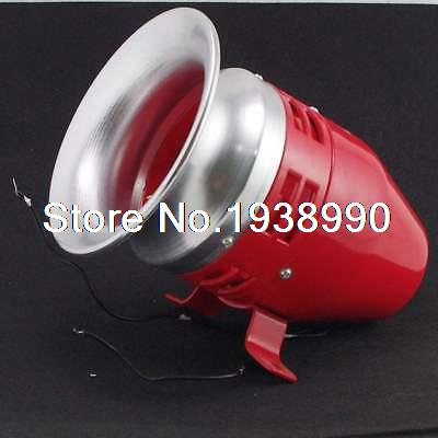 12VDC Motor Driven Air Raid Siren Metal Horn For Industry Boat  Alarm MS-390 motor siren ms 490 220v high decibel air raid siren horn motor mining industry double industry boat alarm