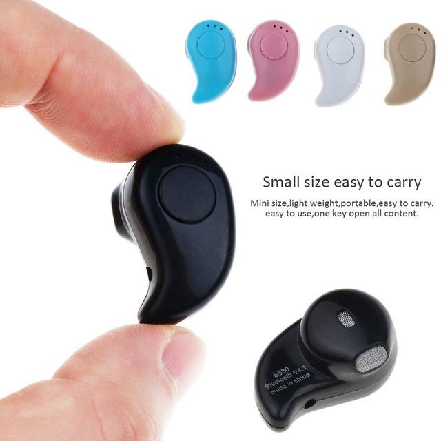 S530 Mini Wireless Bluetooth Earphone in Ear Sport with Mic Earphones Handsfree Headset Earphone Earphone for iPhone 8 X Samsung