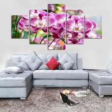5pcs DIY Diamond Painting Purple Orchid Flower Full Square Embroidery Mosaic Picture Of Rhinestone H340